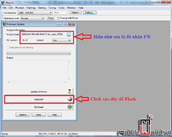 Hướng dẫn chạy lại phần mềm máy nokia bằng Phoenix 6