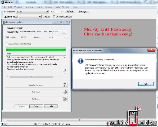 Hướng dẫn chạy lại phần mềm máy nokia bằng Phoenix 7