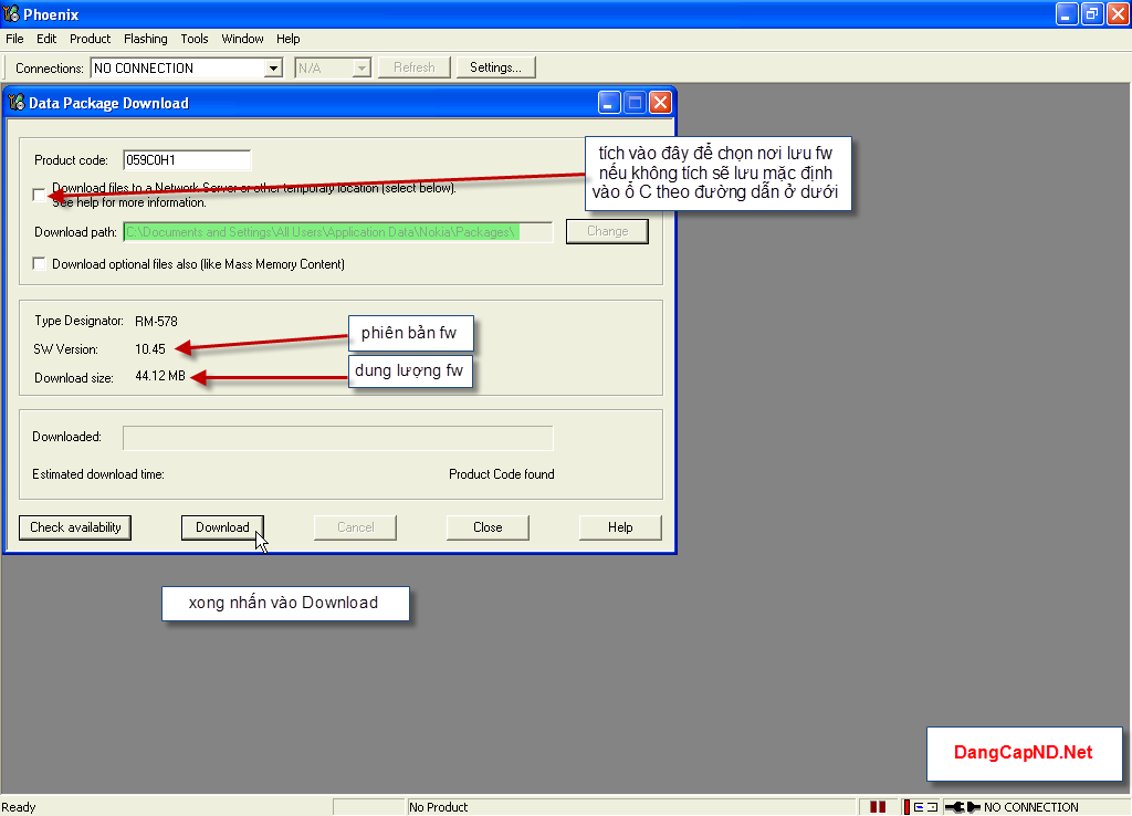 Hướng dẫn chạy lại phần mềm máy nokia bằng Phoenix 4